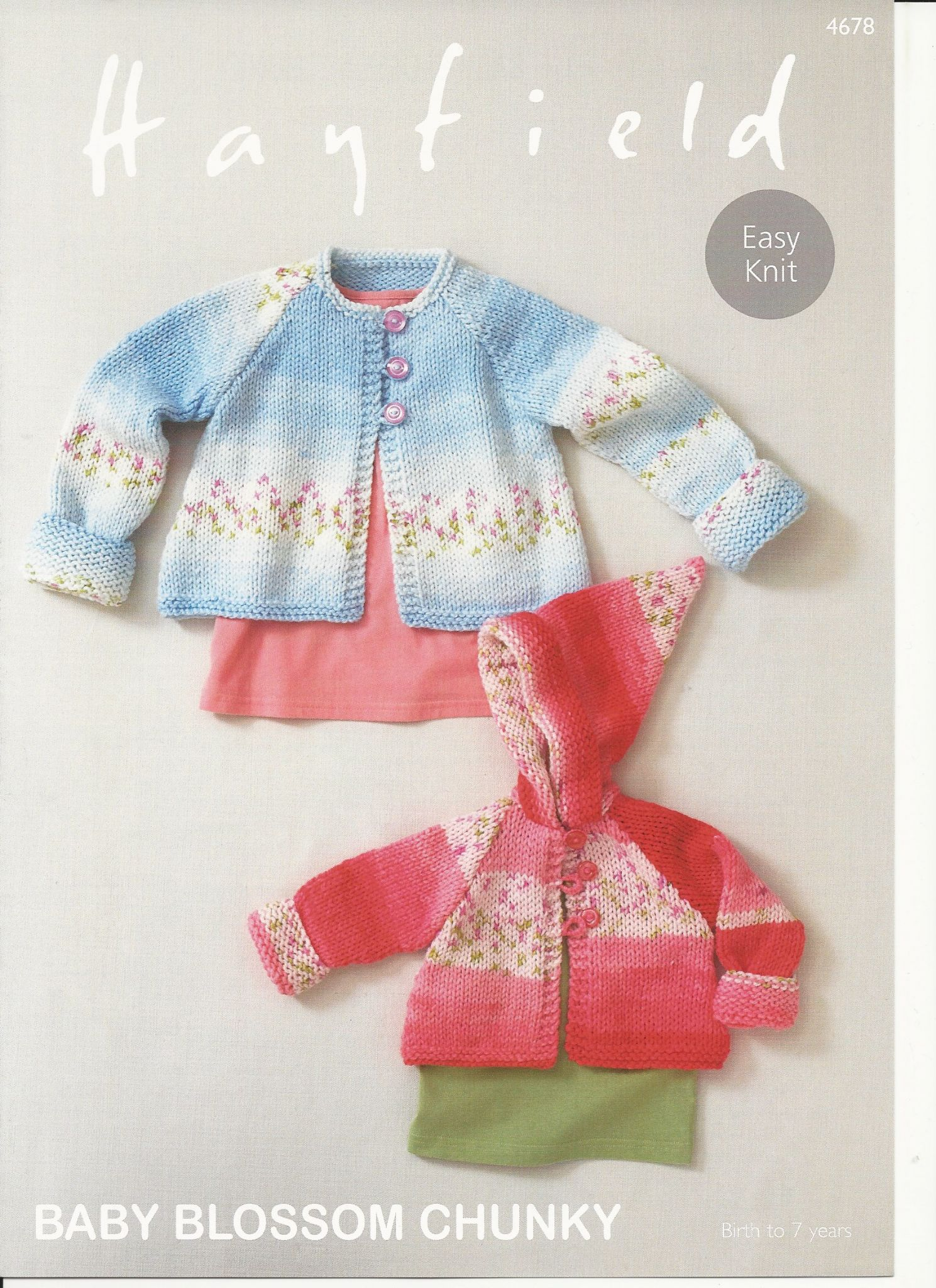 Hayfield Knitting Patterns For Babies : Hayfield Babies Coats Knitting Pattern in Baby Blossom Chunky 4678