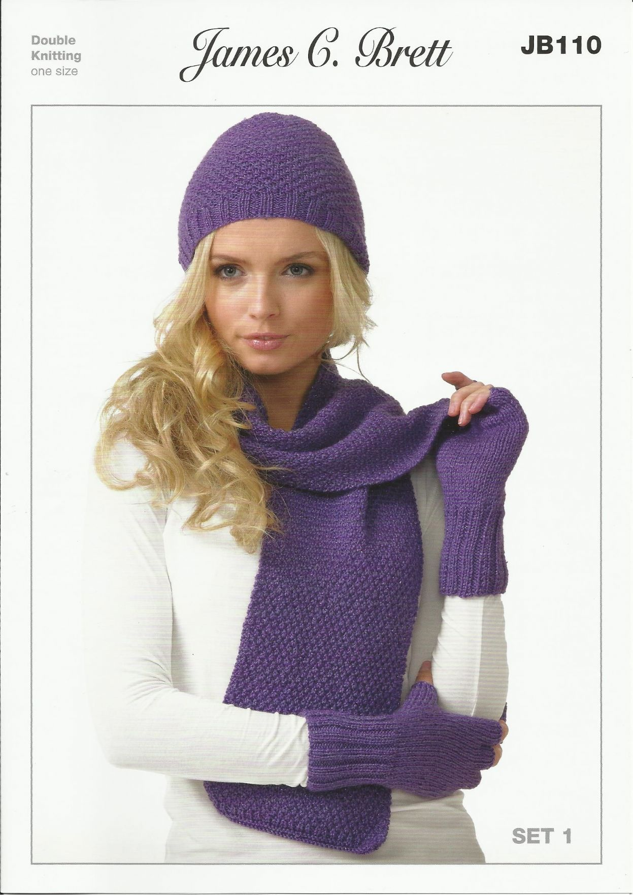 Knitting Pattern Ladies Gloves Dk : James C Brett Ladies Hats Scarves & Gloves in Twinkle DK ...