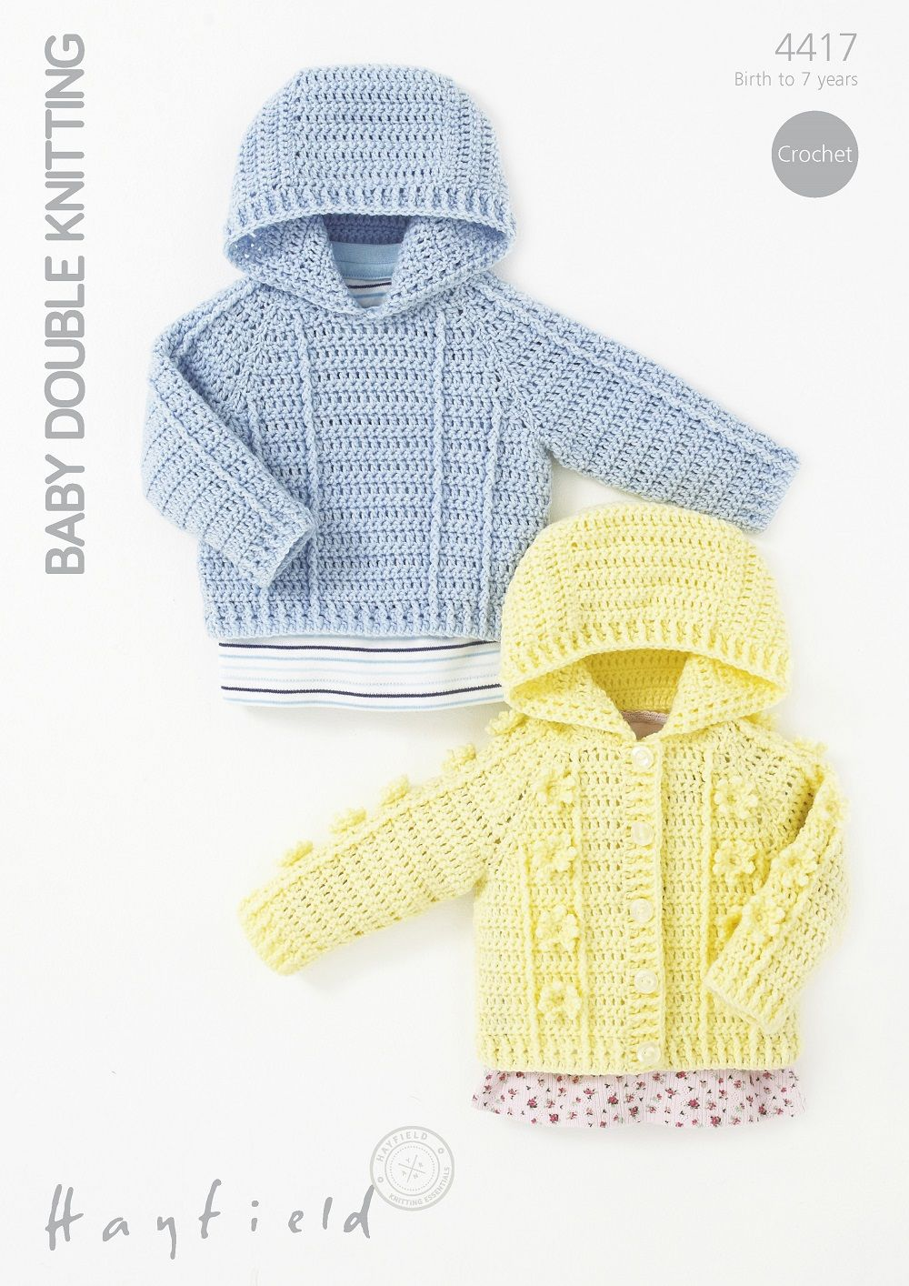 Hayfield Babies Childrens Hooded Sweater Amp Jacket Crochet