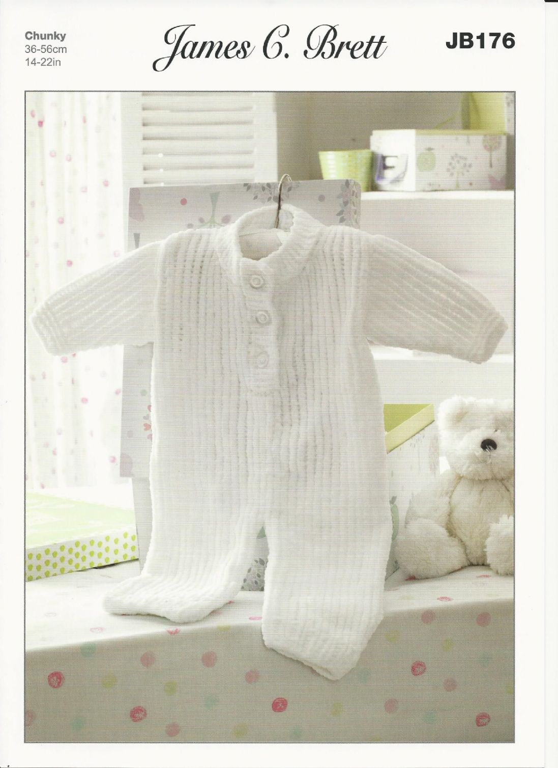 James C Brett - Babies All In One Suit Flutterby Chunky Knitting ...
