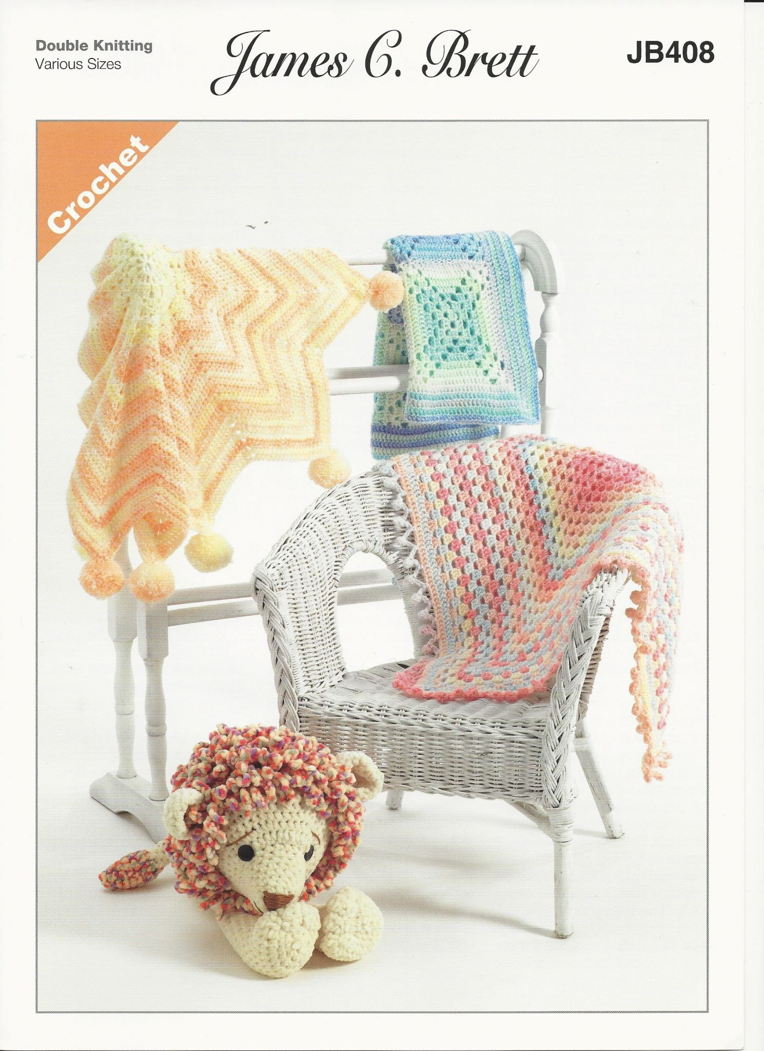 James C Brett Babies Blankets Crochet Pattern In Baby