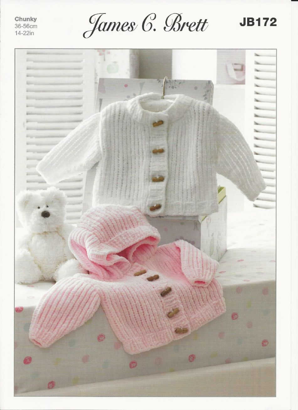 James C Brett Babies Jackets Flutterby Chunky Knitting ...