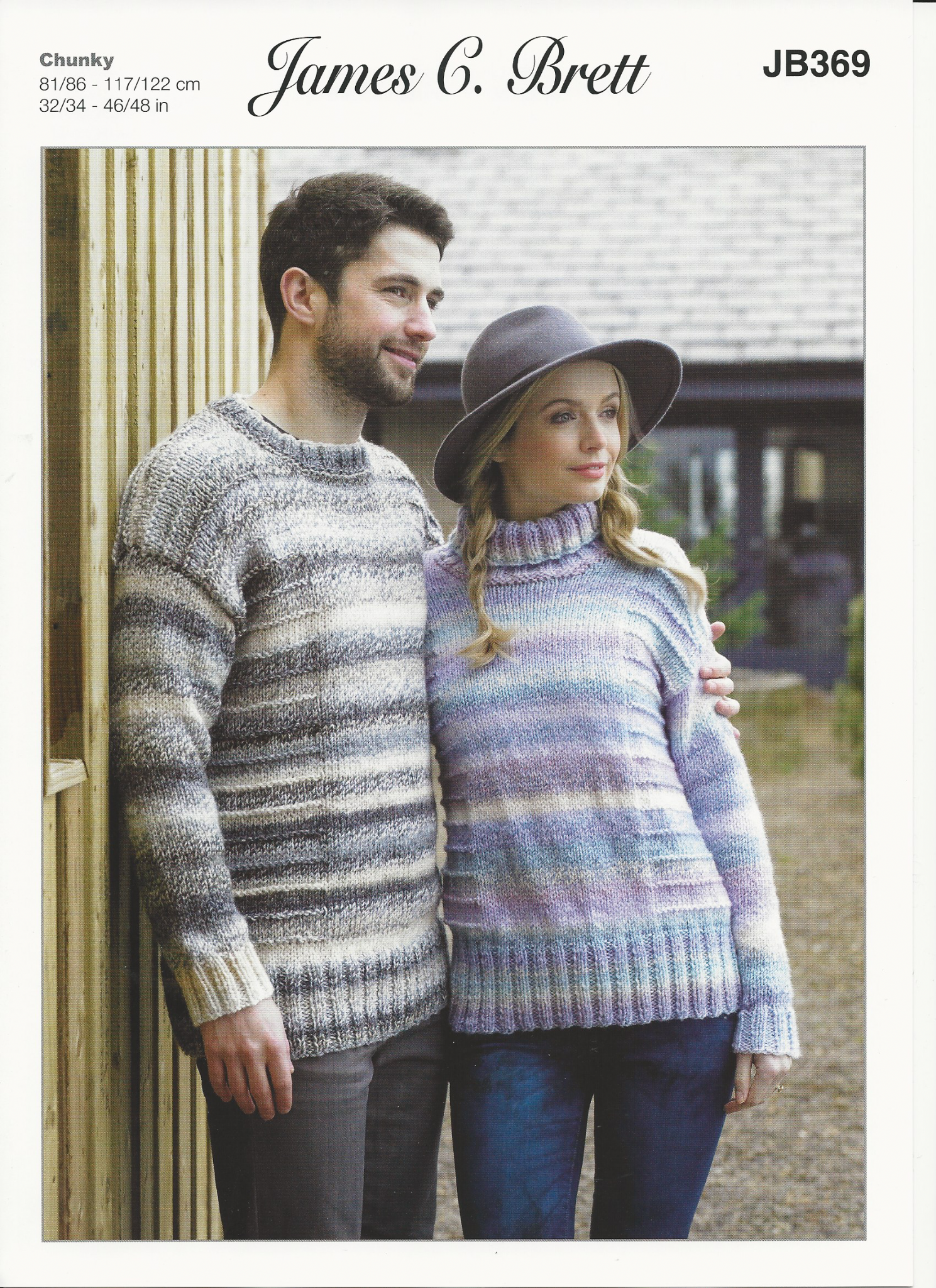 James C Brett Ladies and Mens Sweaters Knitting Pattern in Marble ...