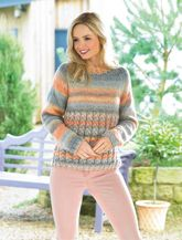 James C Brett Ladies Sweater Knitting Pattern in Marble Chunky (JB435)