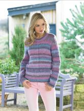 James C Brett Ladies Sweater Knitting Pattern in Marble Chunky (JB437)