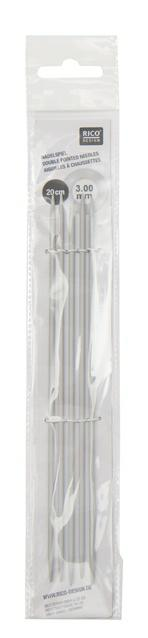 Rico Aluminium Double Pointed Knitting Needles - 2mm - 5mm - Length 20cm