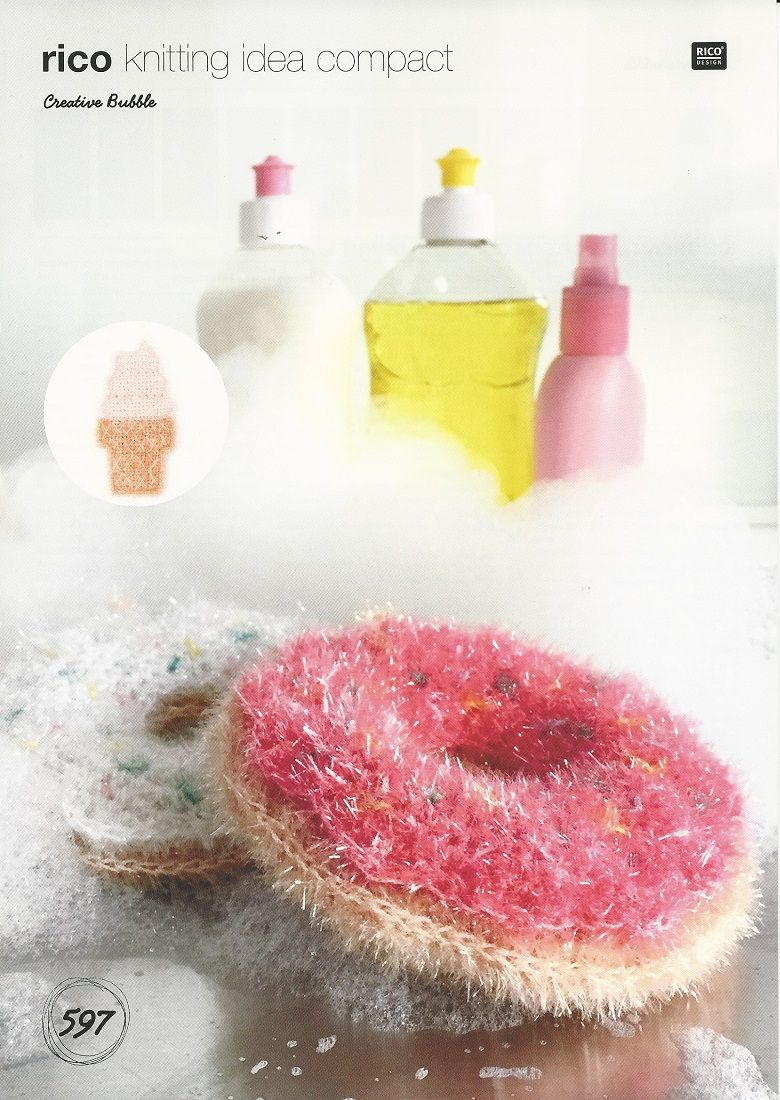 Rico Ice Cream and Donut Bath Shower Scrubby Crochet Pattern in ...