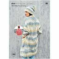 Rico Ladies Poncho, Coat & Hat Knitting Pattern in Creative Melange Big Super Chunky (640)