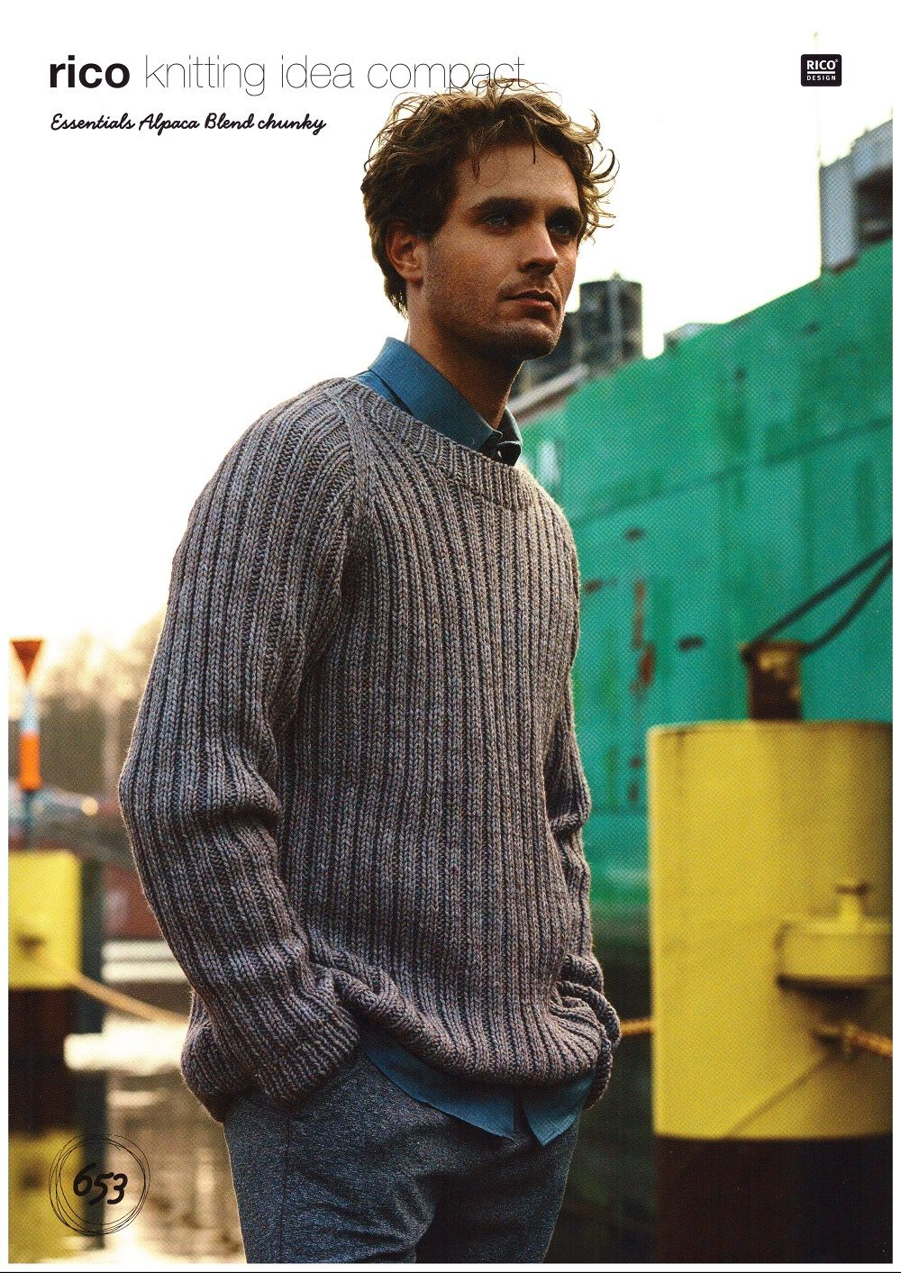 Rico Mens Sweaters Cardigans Scarf Knitting Pattern In Essentials