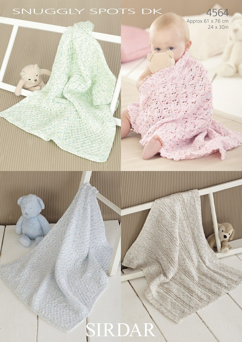 Sirdar Babies Blankets Knitting Patterns In Snuggly Spots Dk 4564p Pdf
