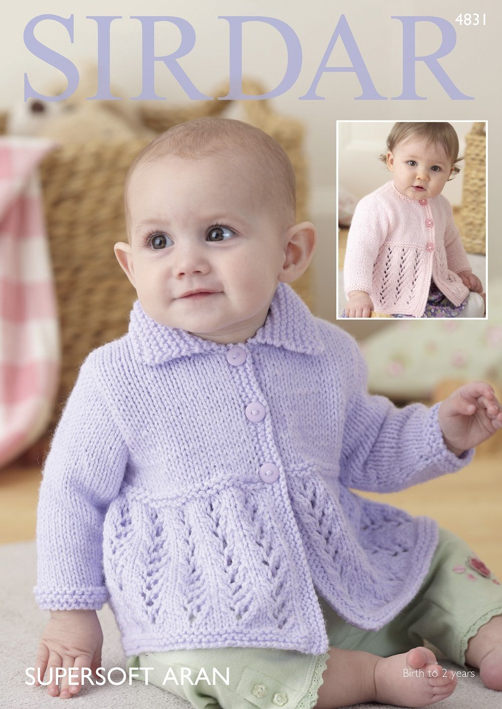 ebfef6f3dddf Sirdar Babies Cardigans Knitting pattern in Supersoft Aran 4831P PDF