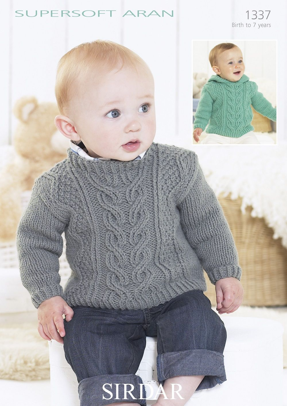 Sirdar Babies Childrens Sweaters Knitting pattern in Supersoft Aran ...