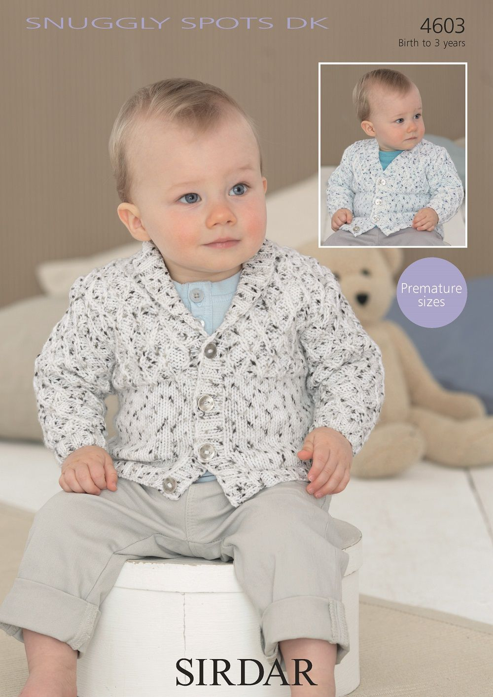Sirdar Baby Boys Cardigans Knitting Pattern In Snuggly