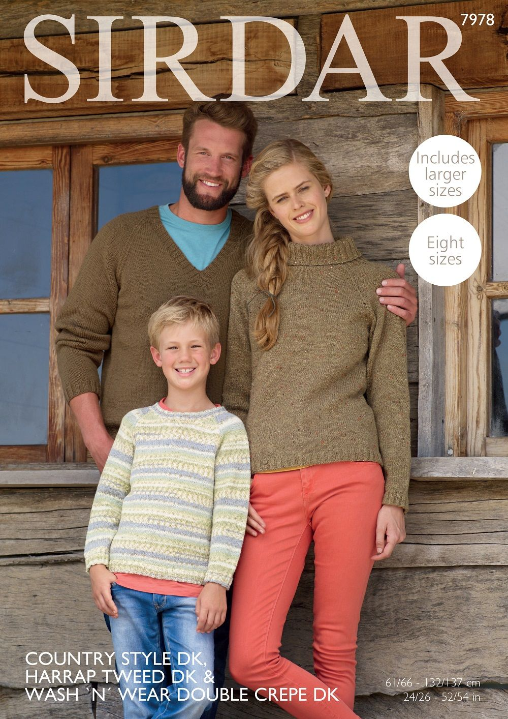 Sirdar Family Sweaters Knitting Pattern in DK 7978P PDF