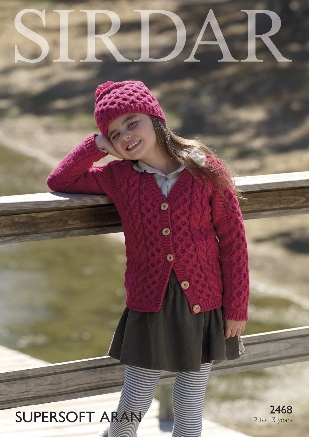 0b9a1cd7355b Sirdar Girls Cardigans Knitting pattern in Supersoft Aran 2468P PDF