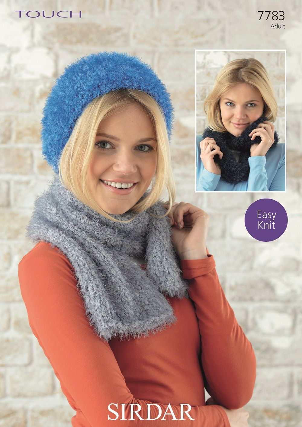 Sirdar Ladies Hat, Scarf and Snood Knitting Pattern in Sirdar Touch (7783P)  PDF