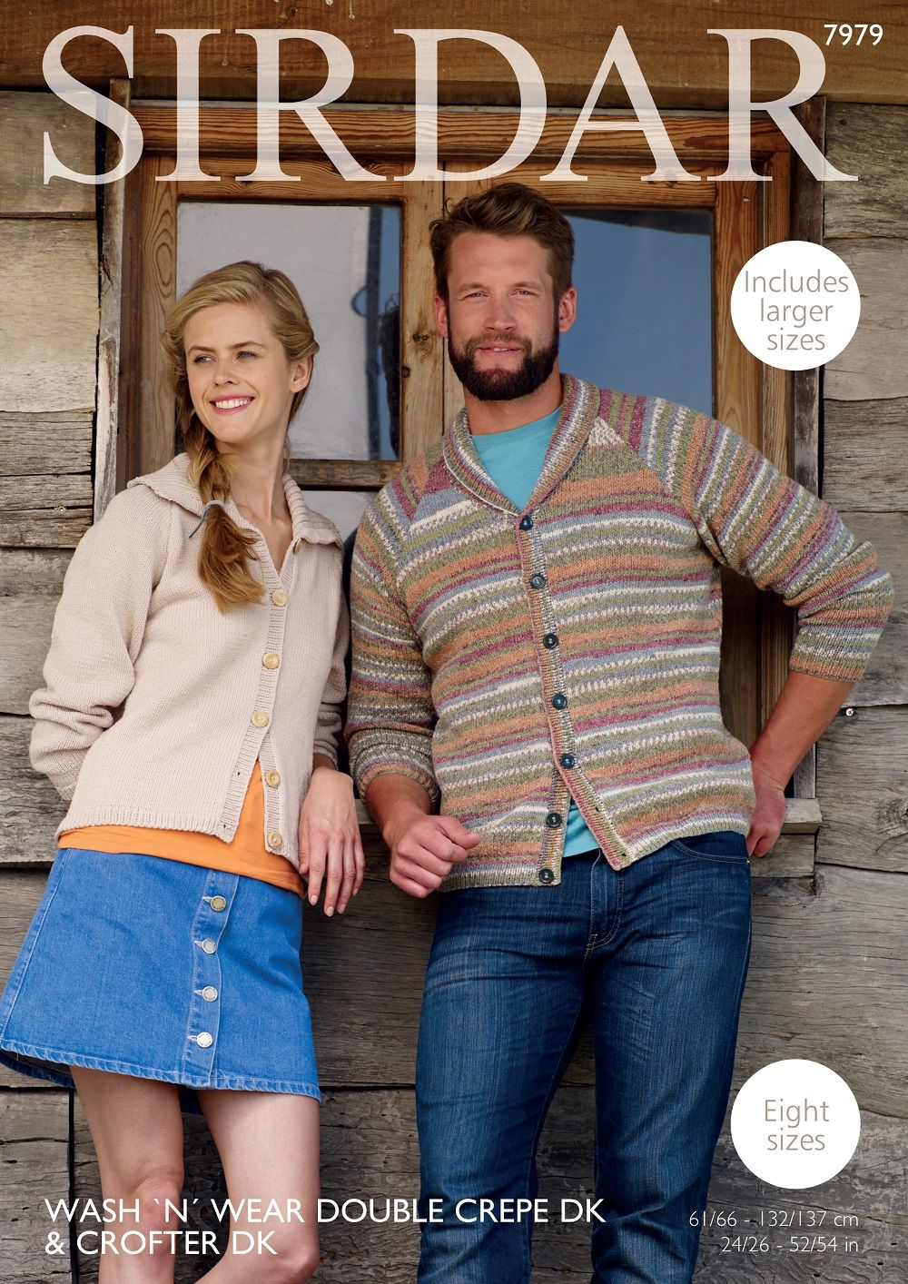 Sirdar Mens & Ladies Cardigans Knitting Pattern in DK 7979P PDF